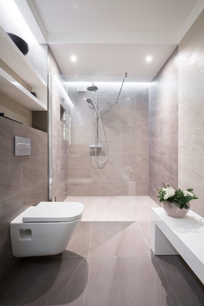 Modern and tasteful bathroom in the house