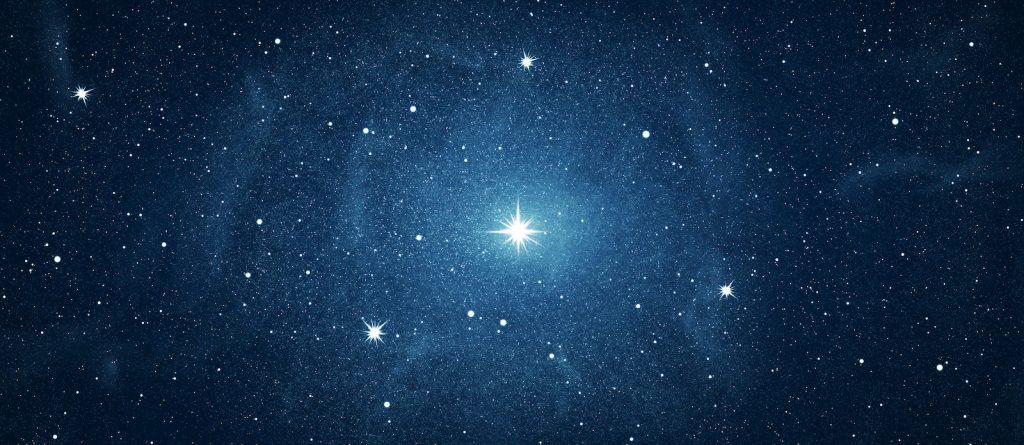 Blue sky full of stars