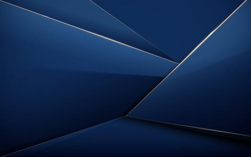 Royal blue shapes