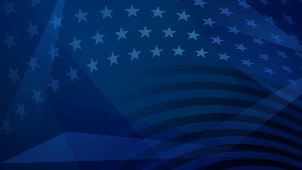 American Flag Blue Pattern