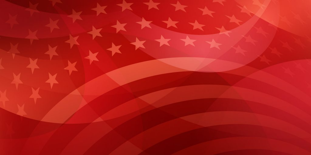 American Flag Red Pattern