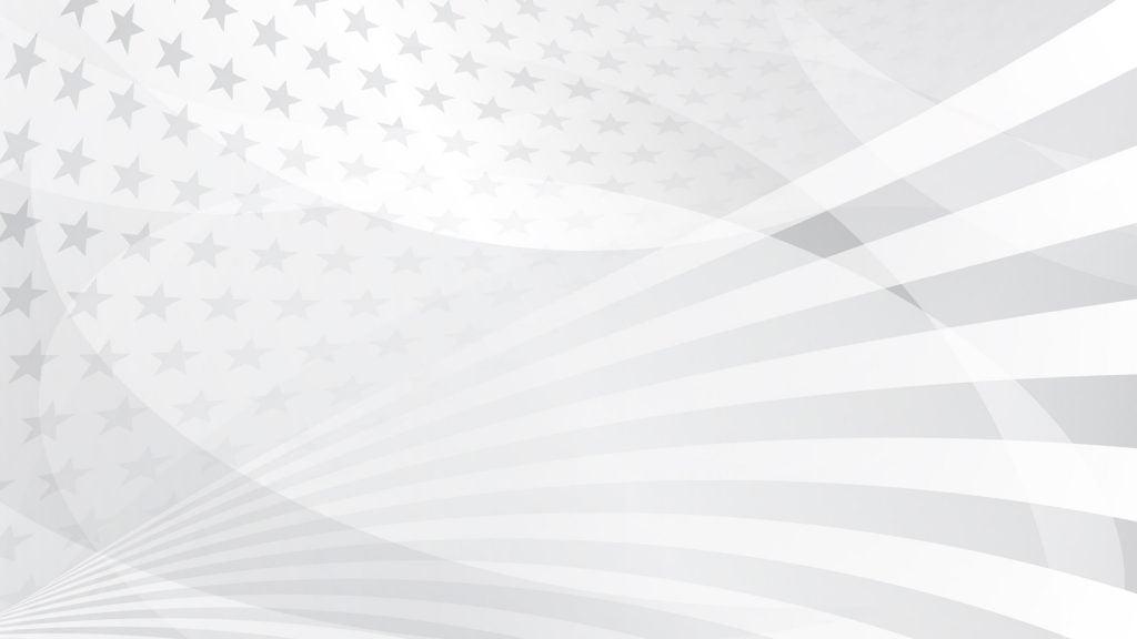 American Flag White Pattern