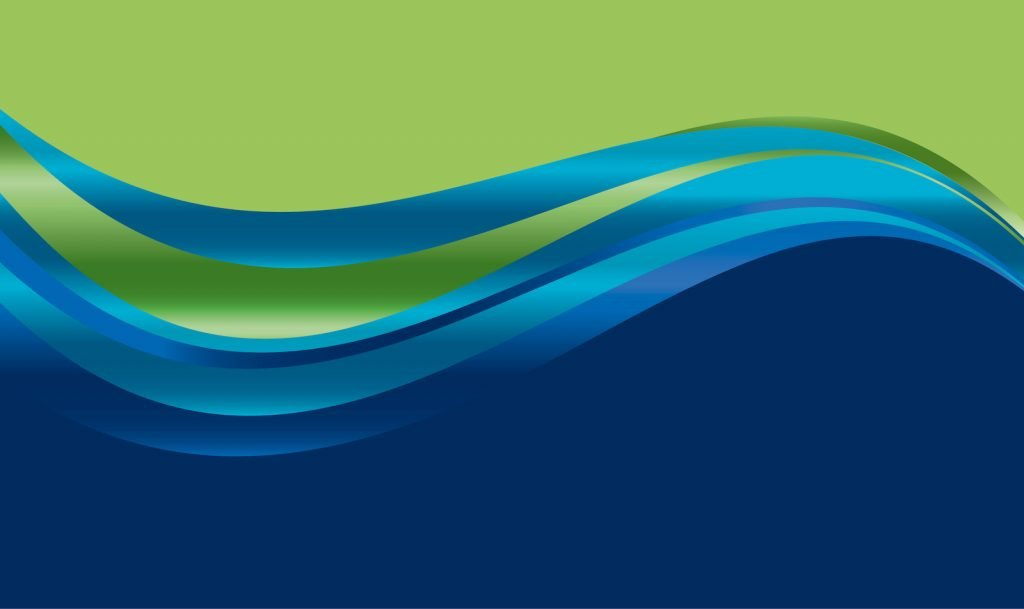 Blue and green wave pattern