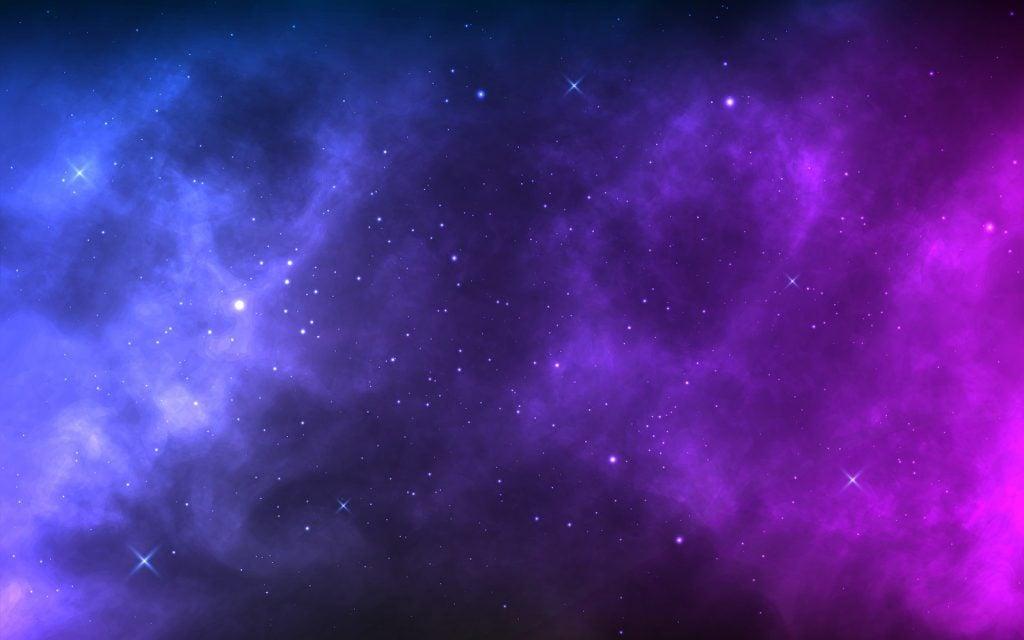 Blue and purple galaxy