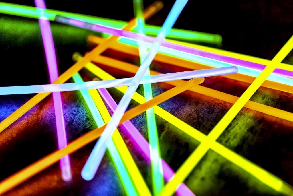 Colorful glow sticks