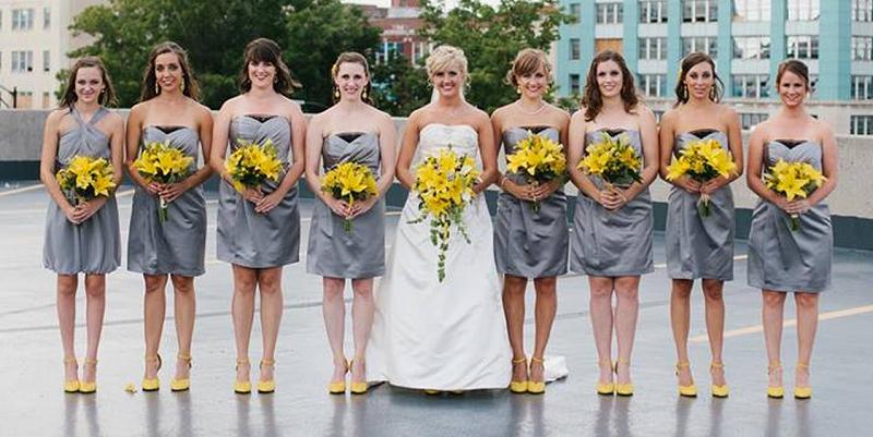 gemini bride yellow gray wedding palette