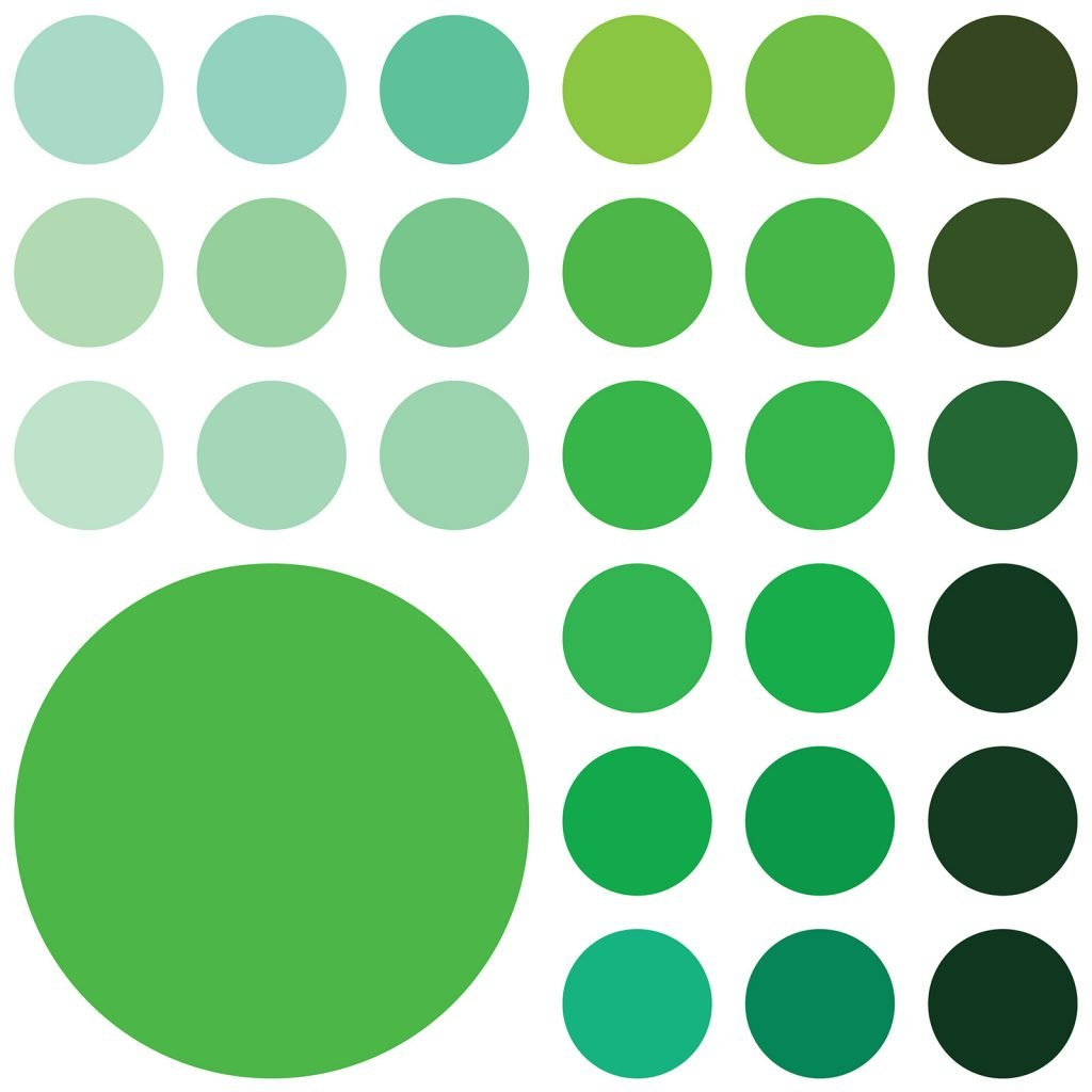 Green color palette illustration
