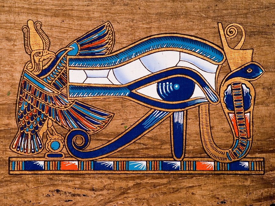Egyptian color symbolism with Eye of Horus