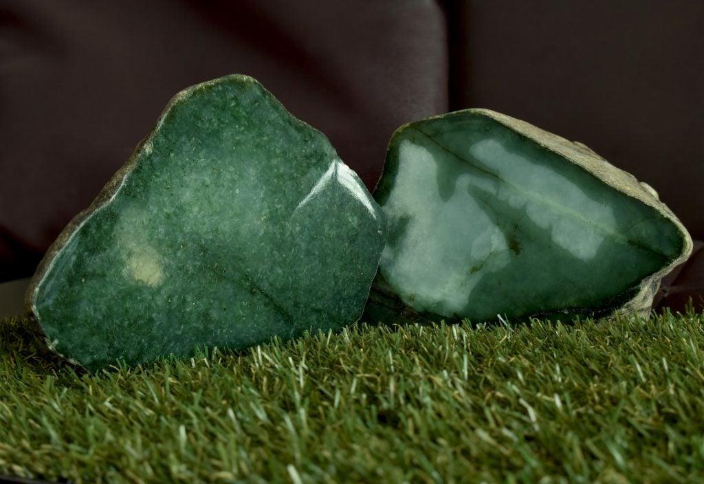 Green Jade uncut stone