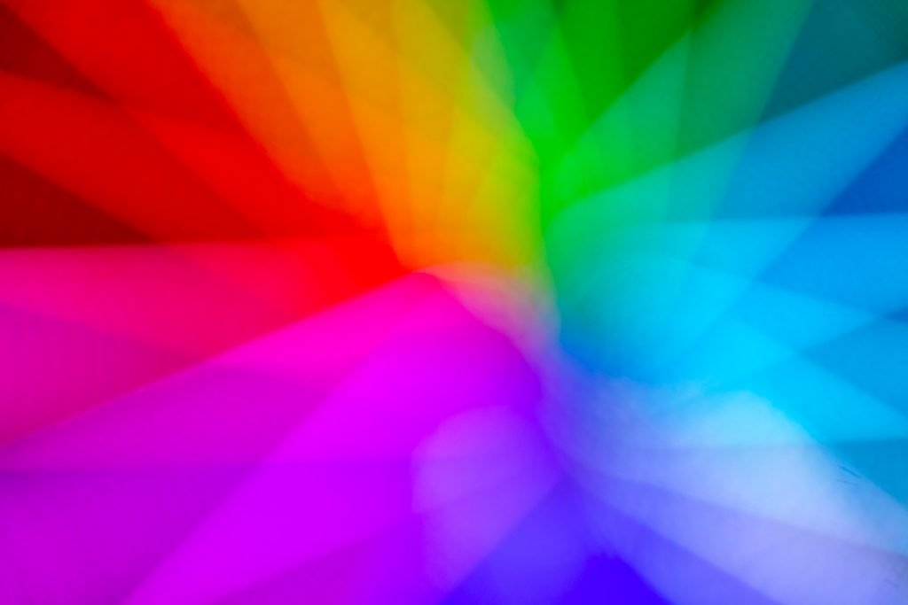 Neon color wheel