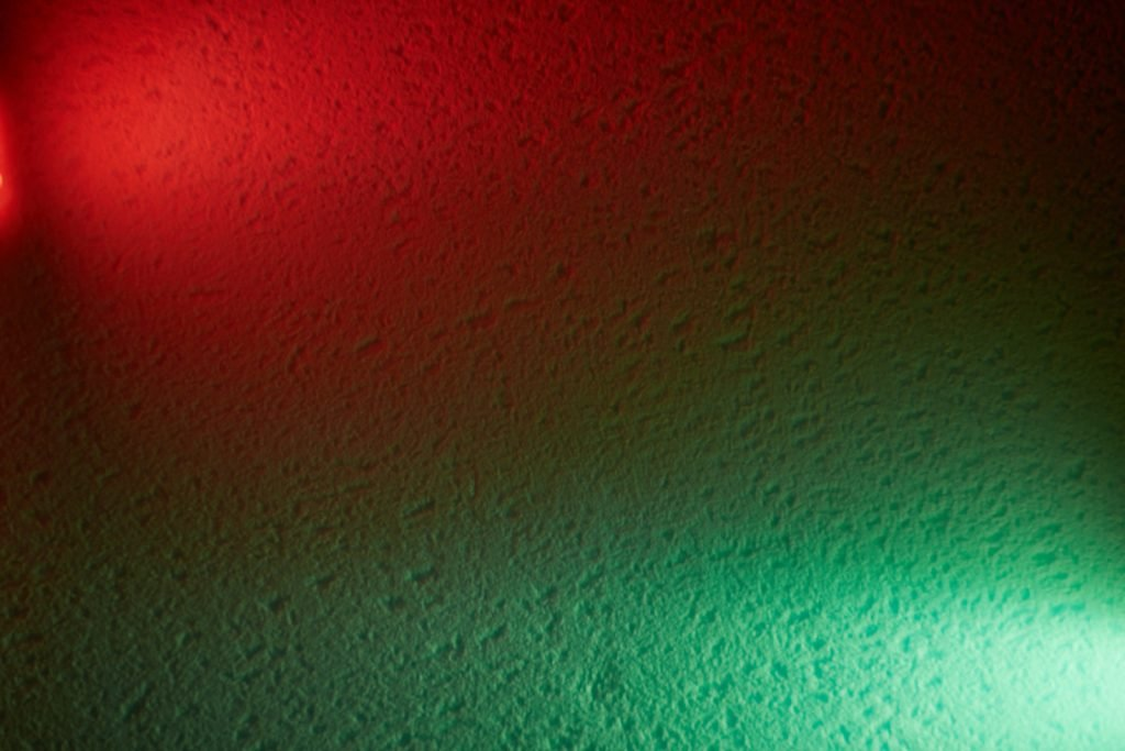 Red and green colored lights