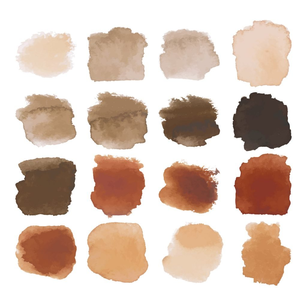 Shades of brown paint