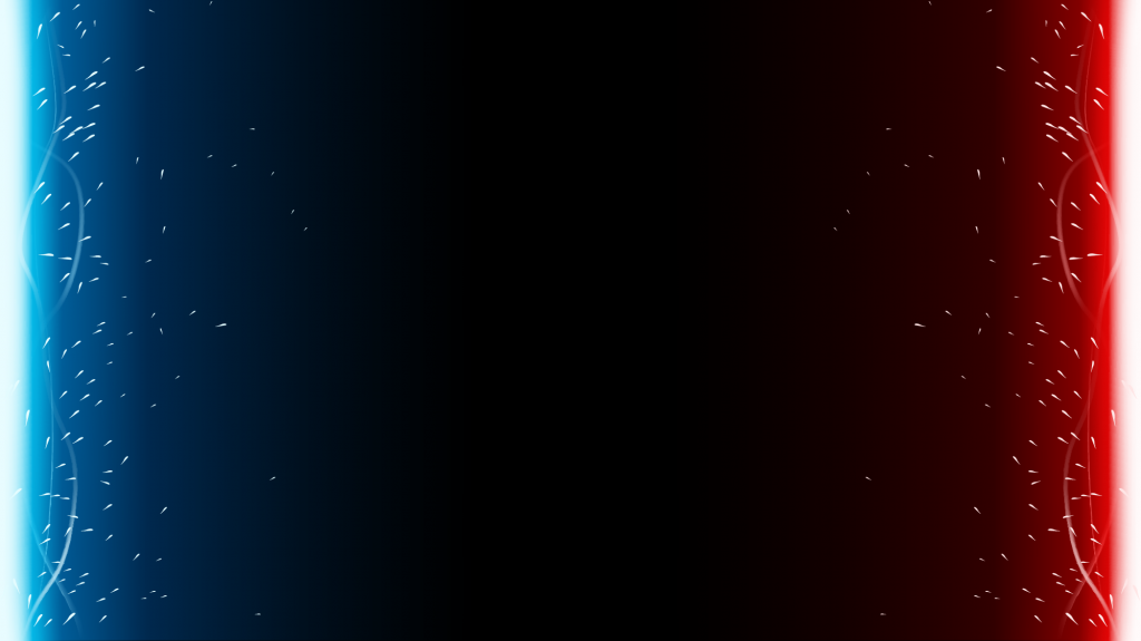 Blue and red lights on opposite sides of black background