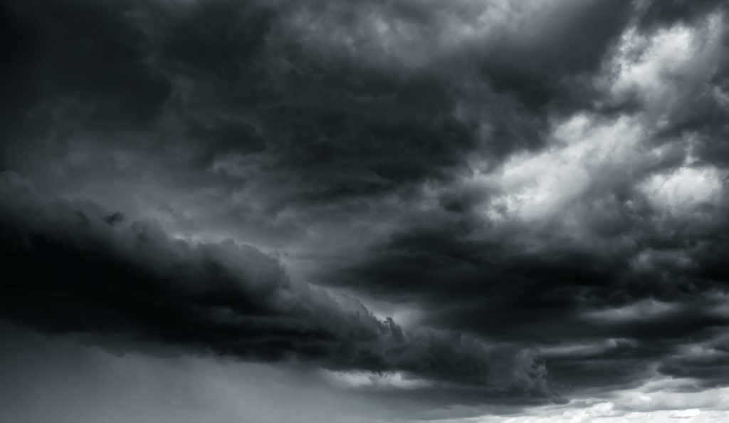 Storm clouds are one of the first gray things in nature that most of us think of.