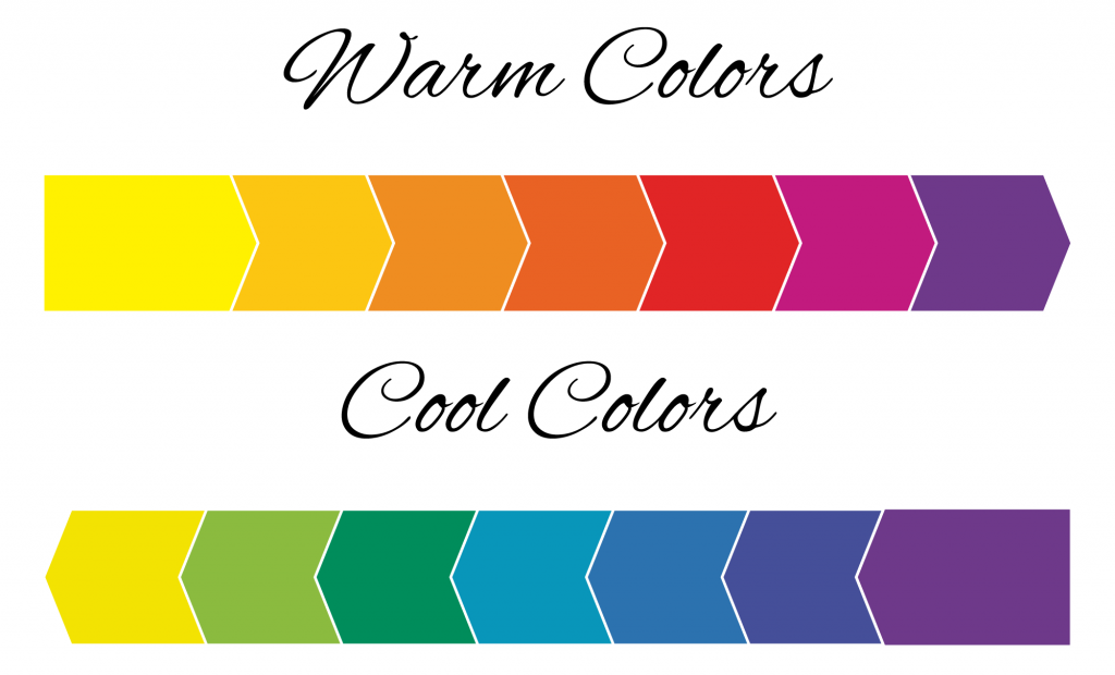 Range of warm and cool colors