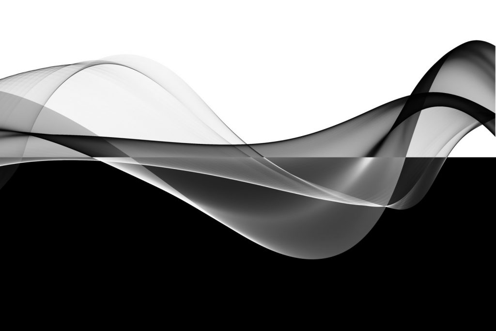 Abstract black and white waves
