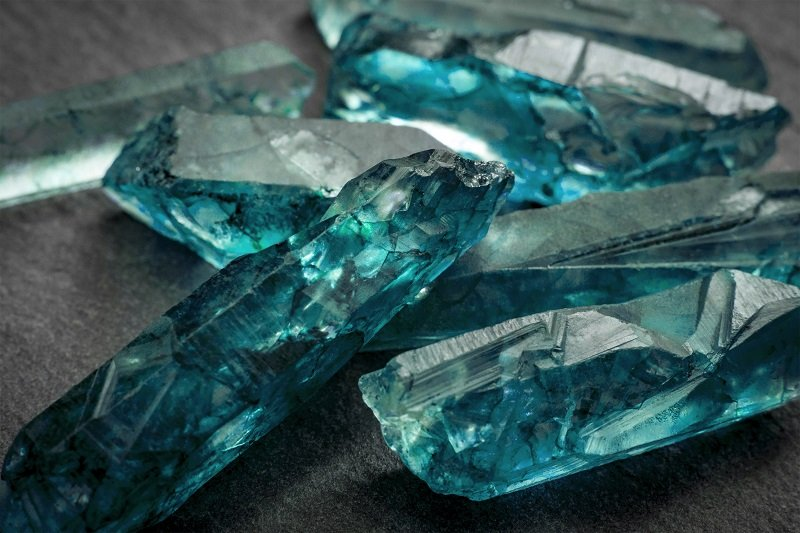Aquamarines  crystals