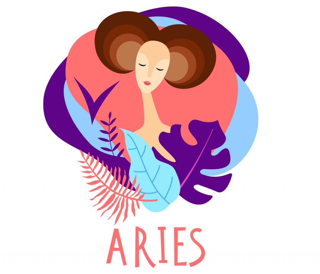 Illustration of zodiac sign Aries