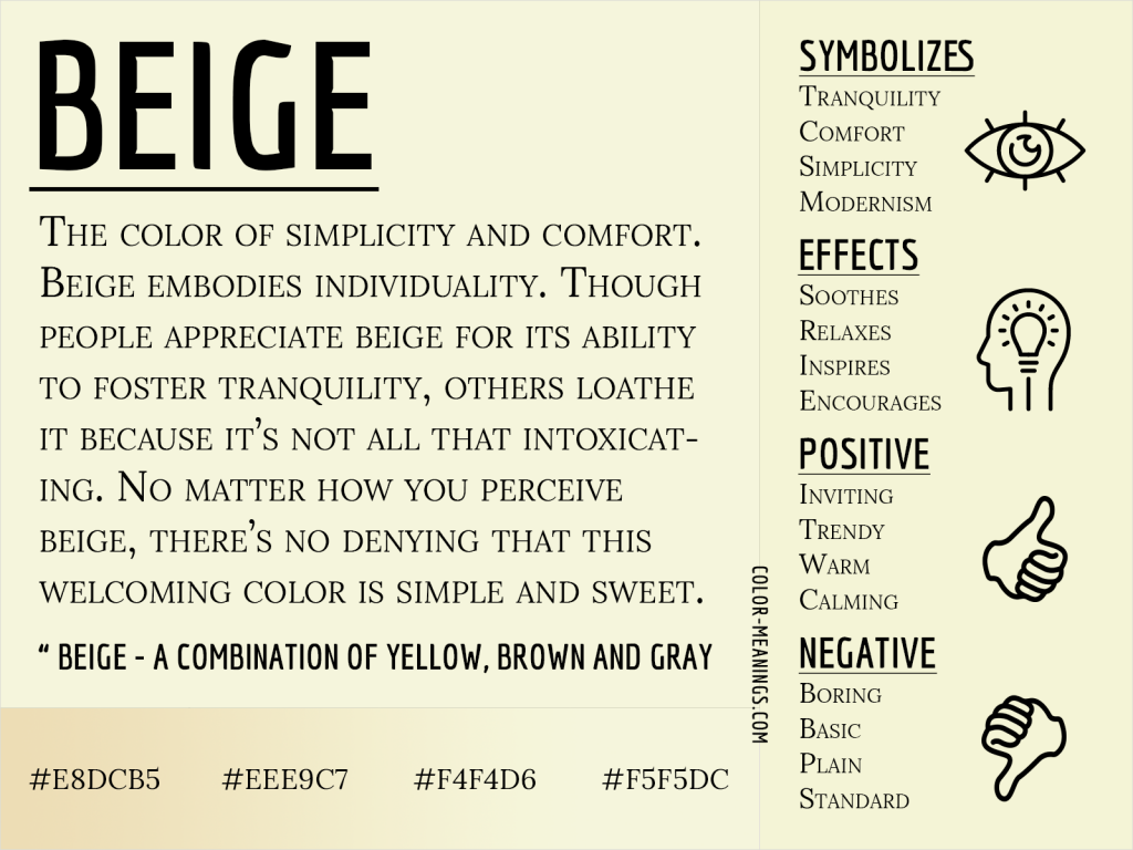Beige Color Meaning Infographic