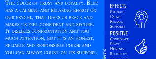 Blue Color Meaning Infographic