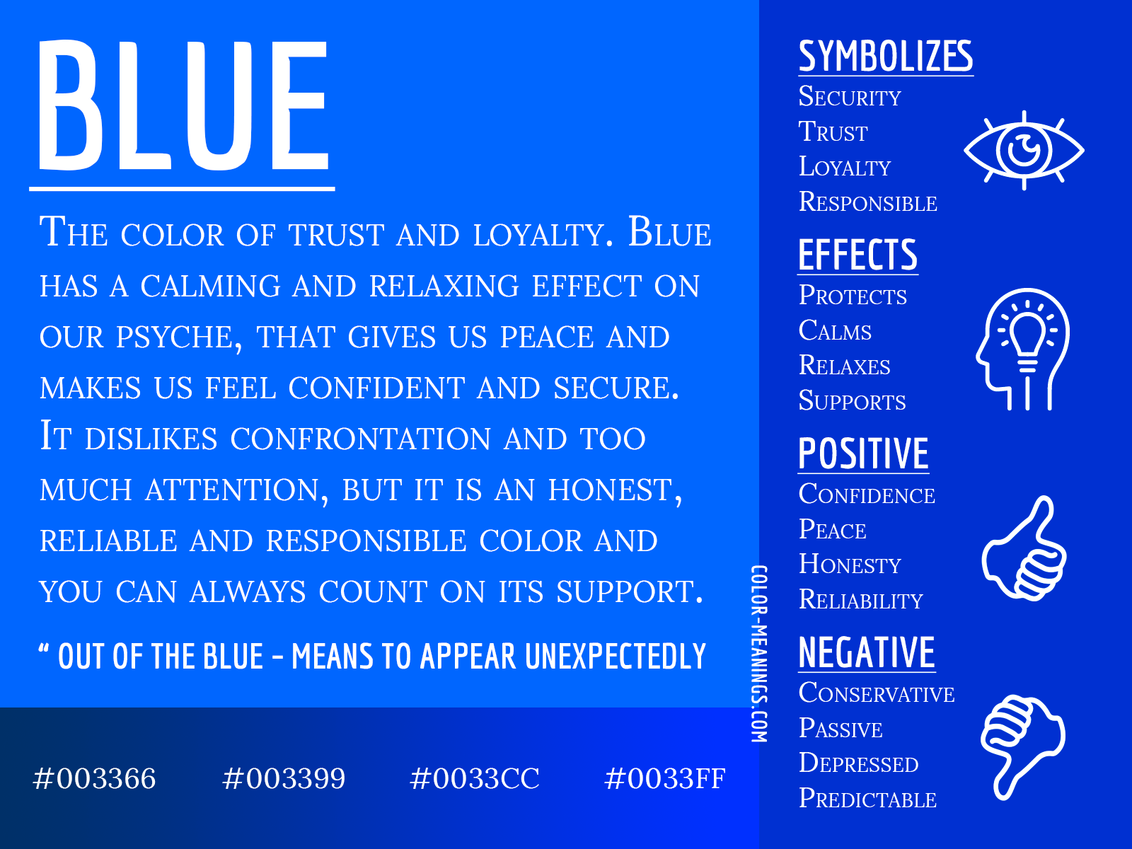Blue Color Meaning: The Color Blue Symbolizes Trust and Loyalty