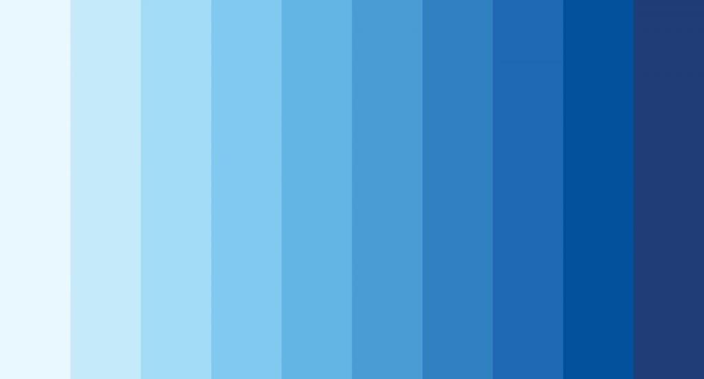 Blue color palette illustration