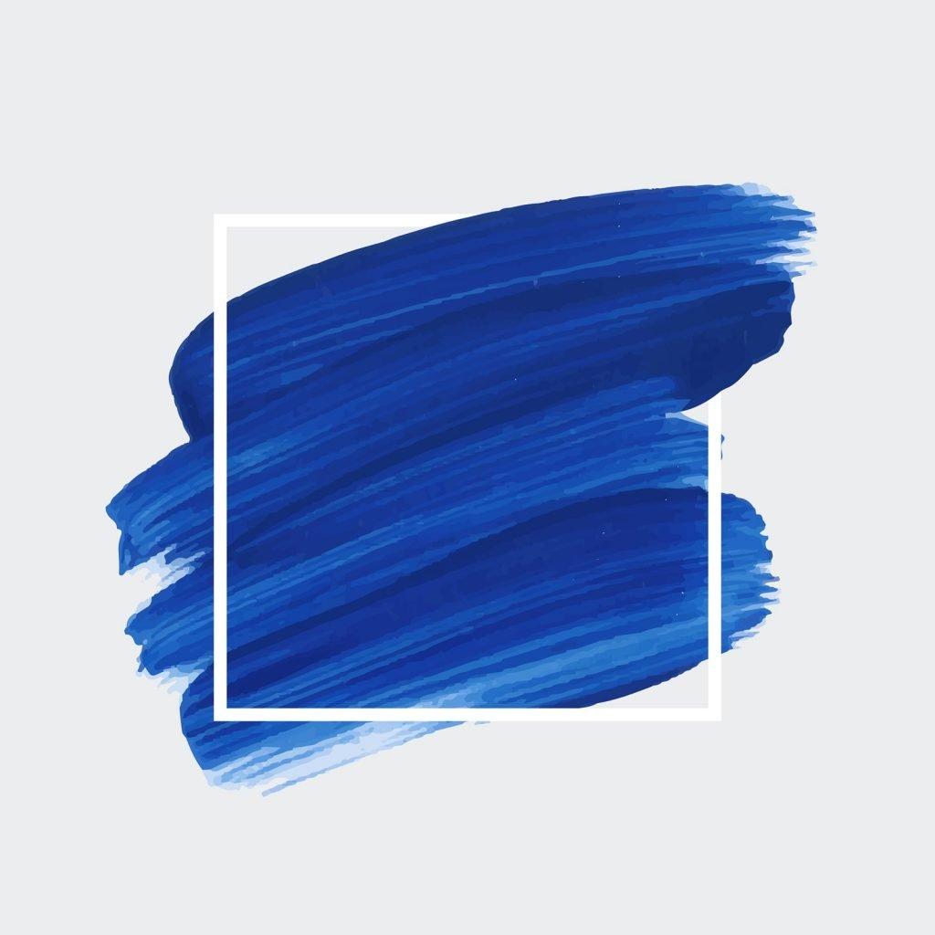 Shades of blue brush strokes