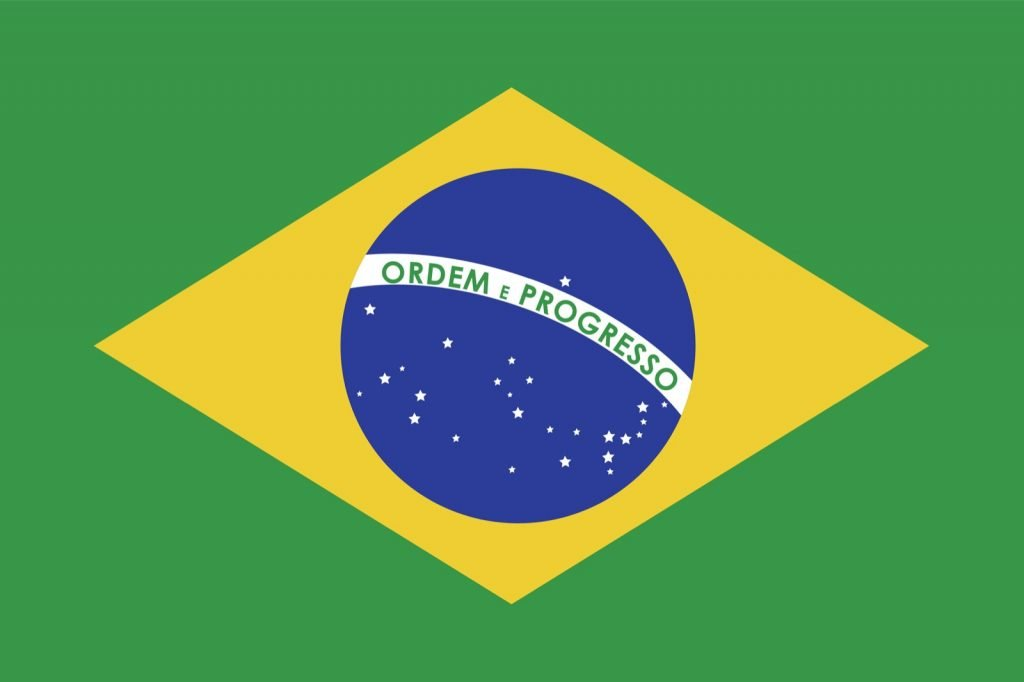 Green yellow and blue flag from Brazil