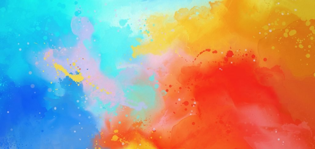 Bright colors in abstract drawing