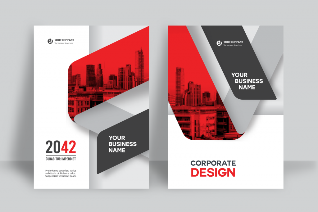 Brochure template with white space between design elements