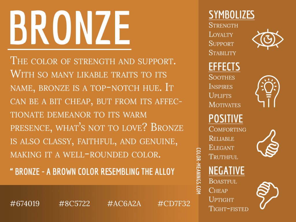 Bronze Color Meaning Infographic