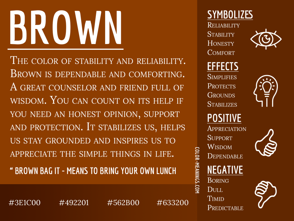 Brown Color Meaning Infographic