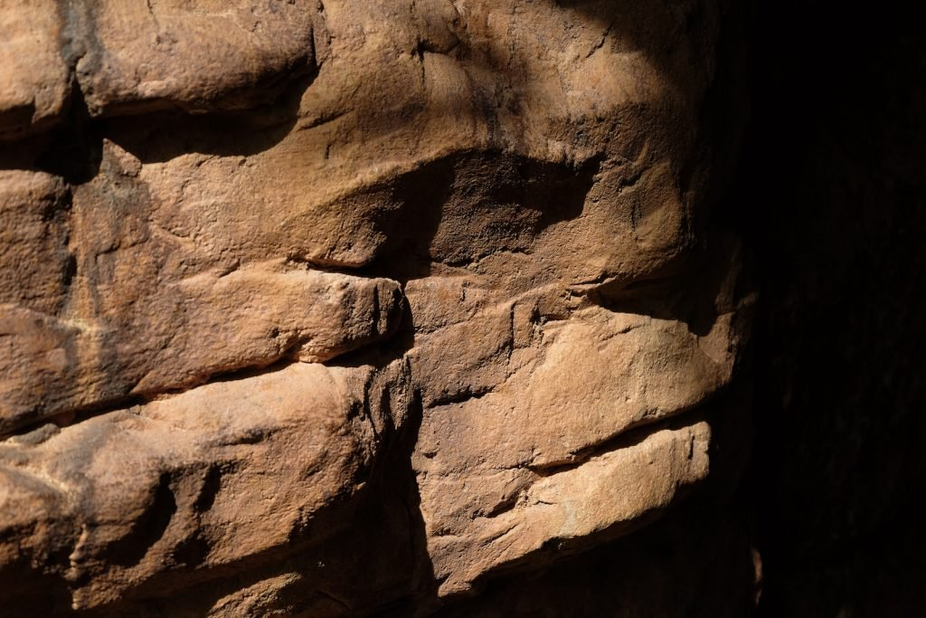 Close up of brown rock formation