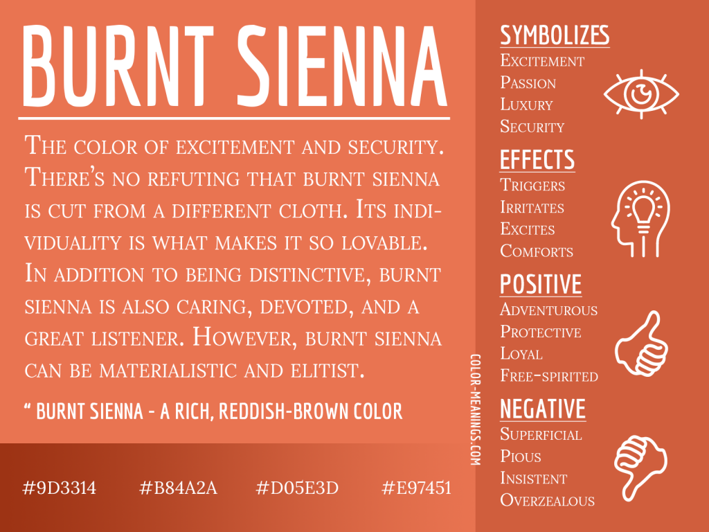 Burnt Sienna Color Meaning Infographic