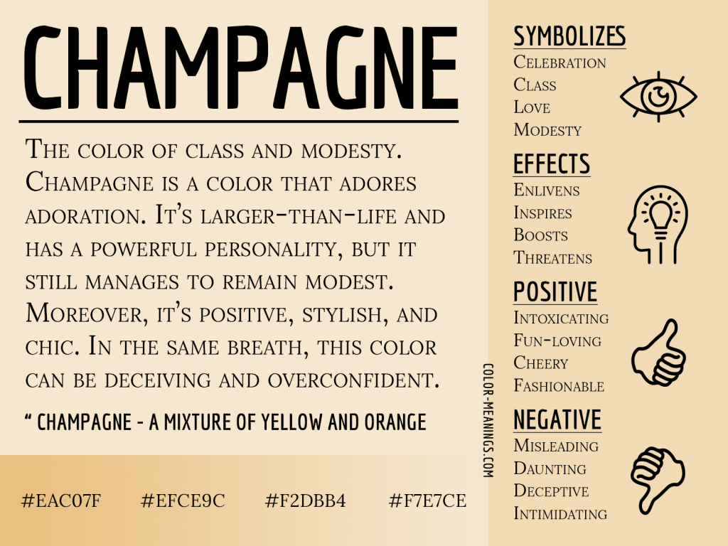 Champagne Color Meaning Infographic