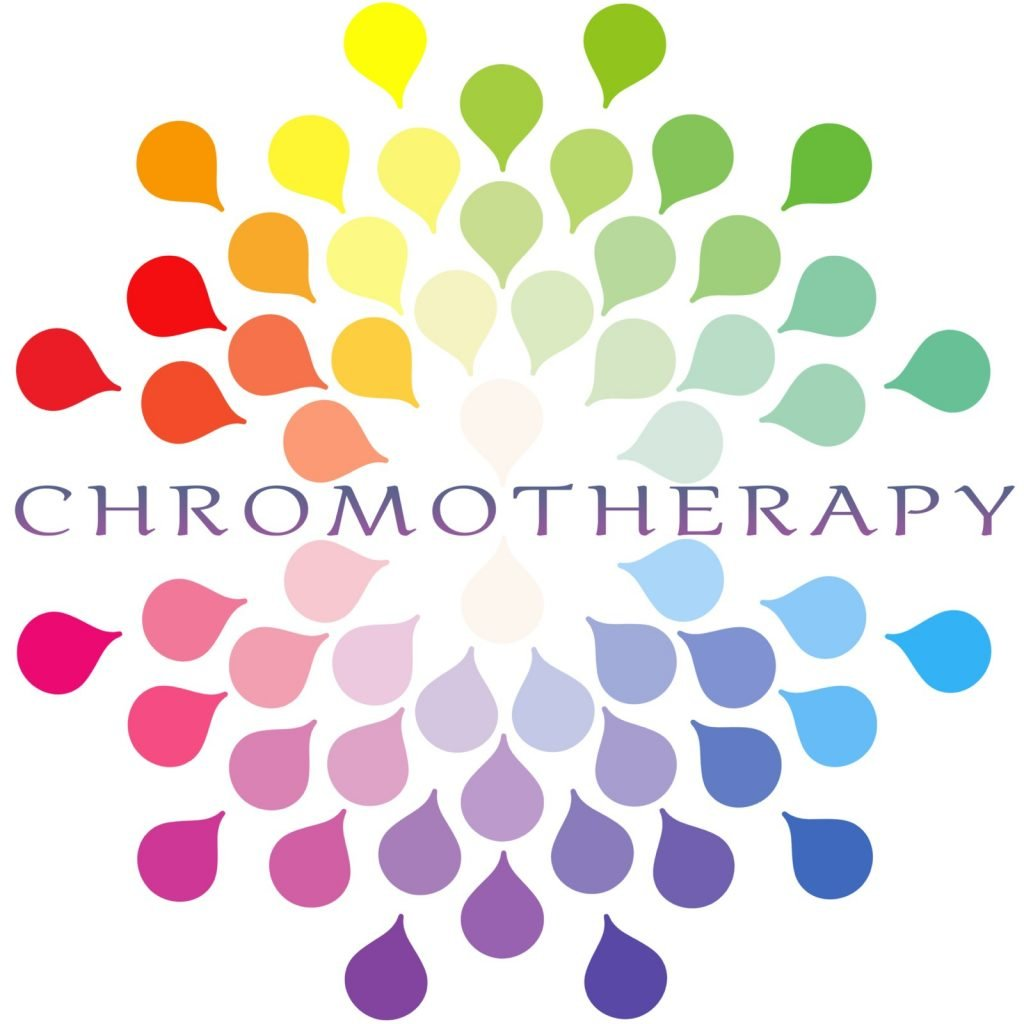 Colorful chromotherapy illustration