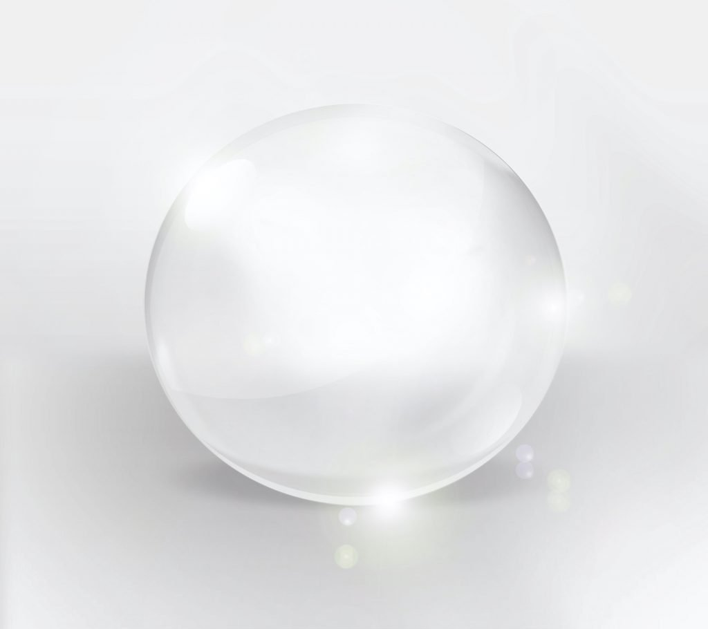 Clear orb on a light background