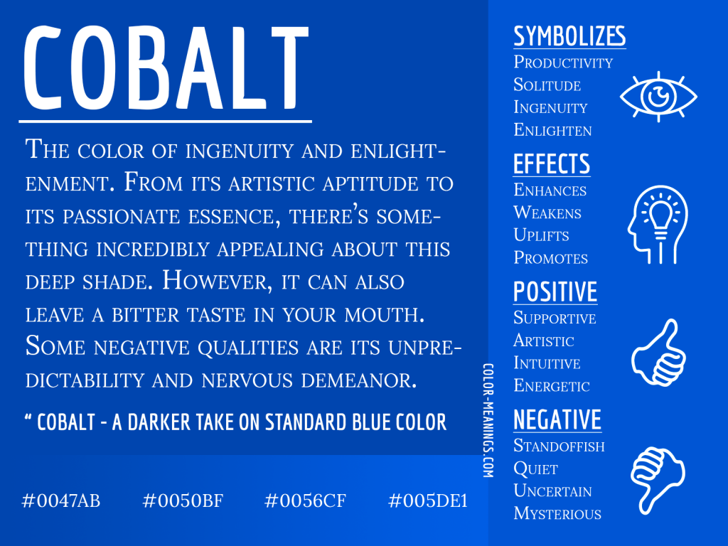 Cobalt Color Meaning Infographic