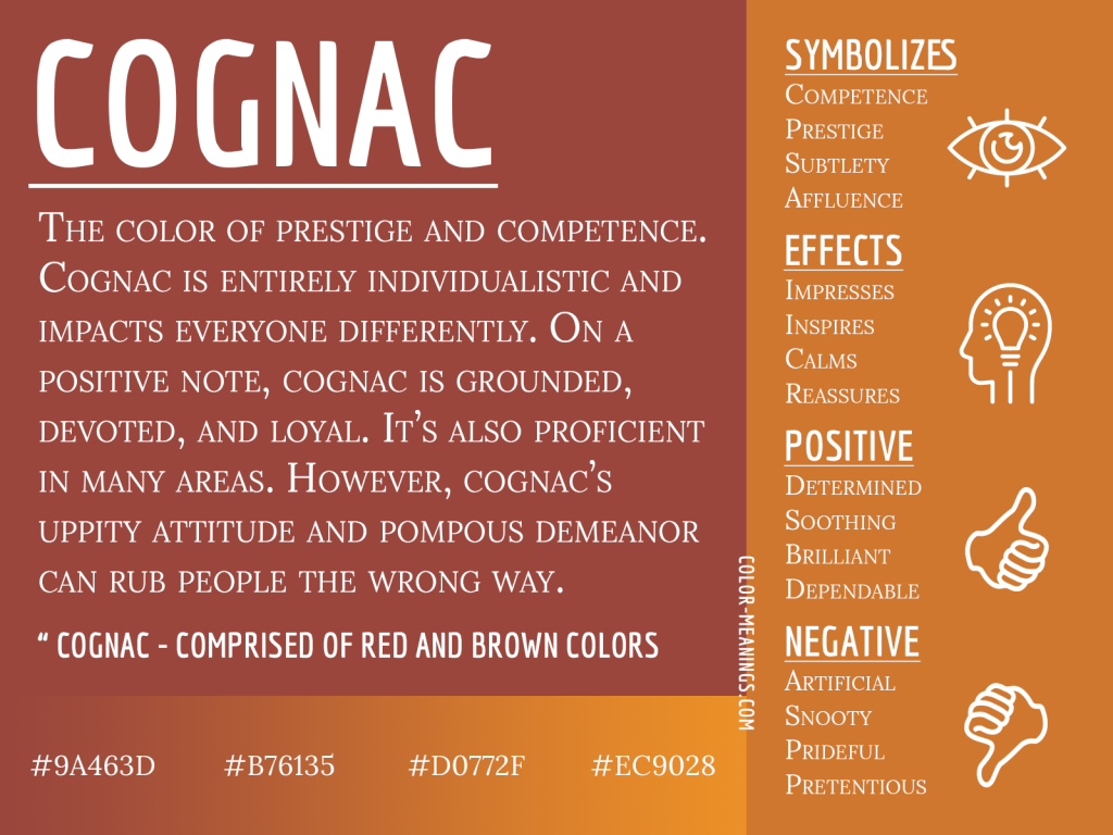 Cognac Color Meaning Infographic
