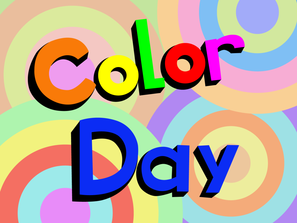 National Color Day illustration with many different bright colors