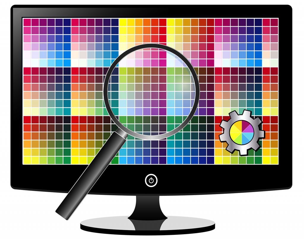 Adjustment of color settings on LCD monitor for best picture quality
