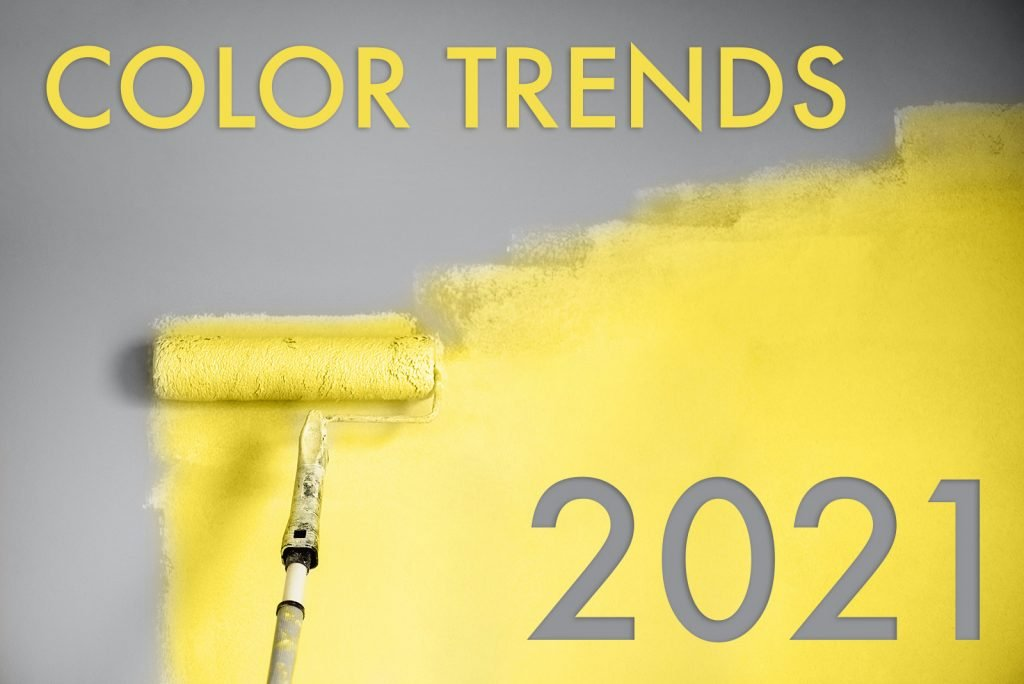Illustration with color trends in 2021
