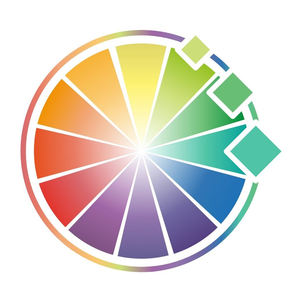 Color wheel with three analogous colors