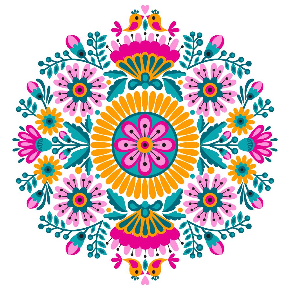 Illustration of colored mandala - example 1