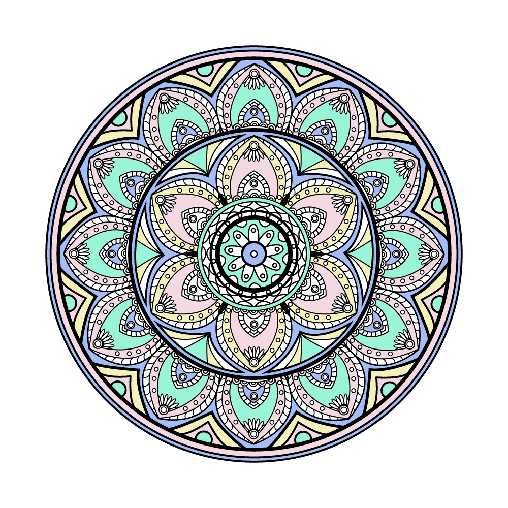 Illustration of colored mandala - example 2