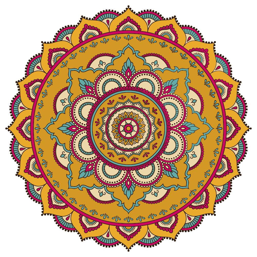Illustration of colored mandala - example 3