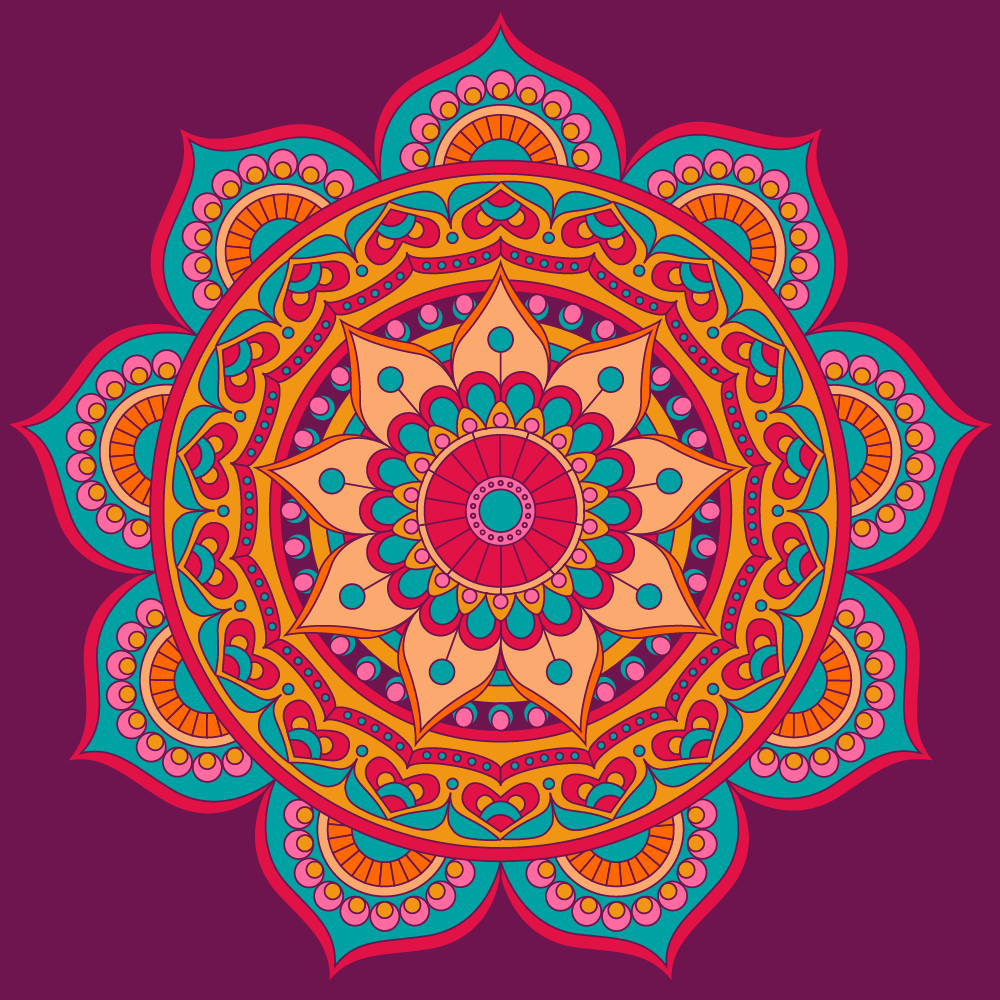 Illustration of colored mandala - example 4