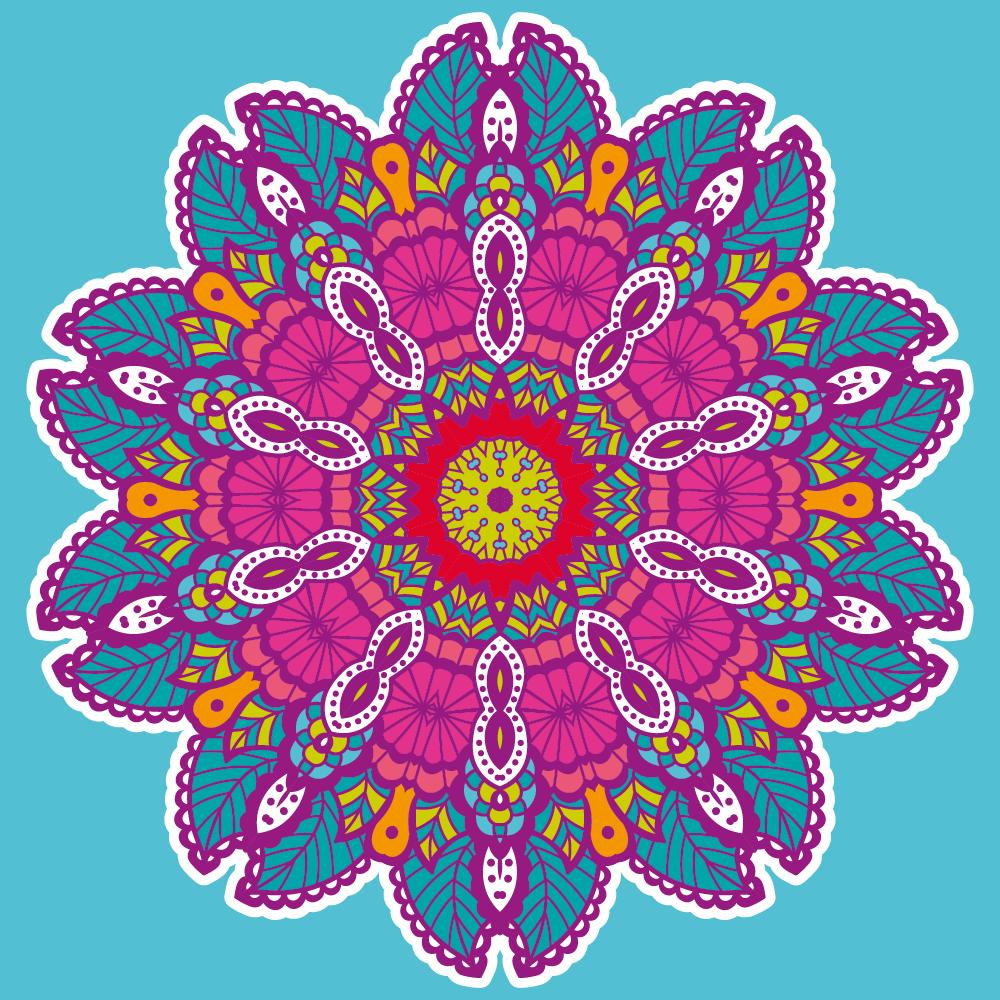 Illustration of colored mandala - example 5