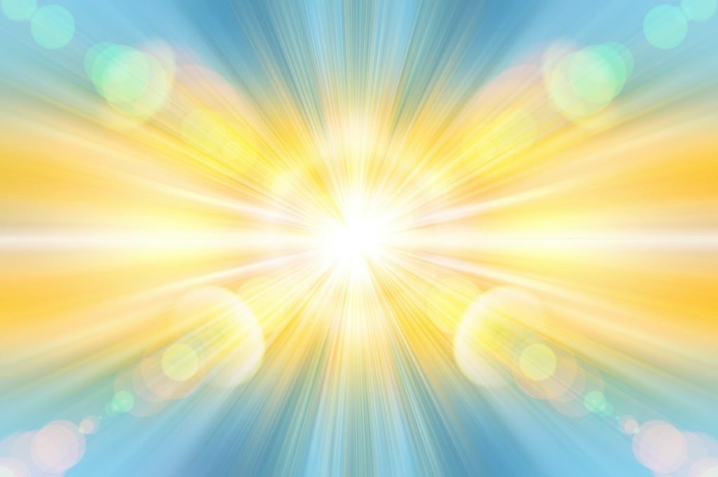 Colorful rays of energy and light