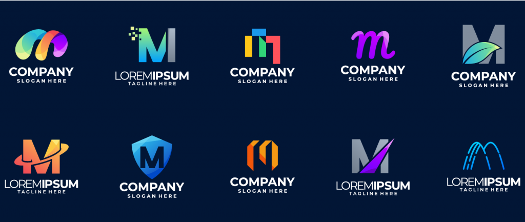 Company logos in different colors